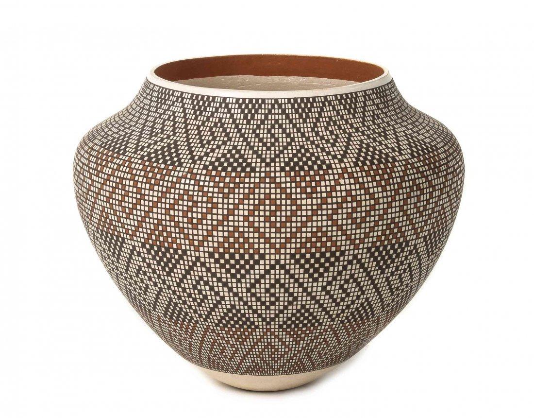 An Acoma Polychrome Jar, Frederica Antonio, Height 6 x