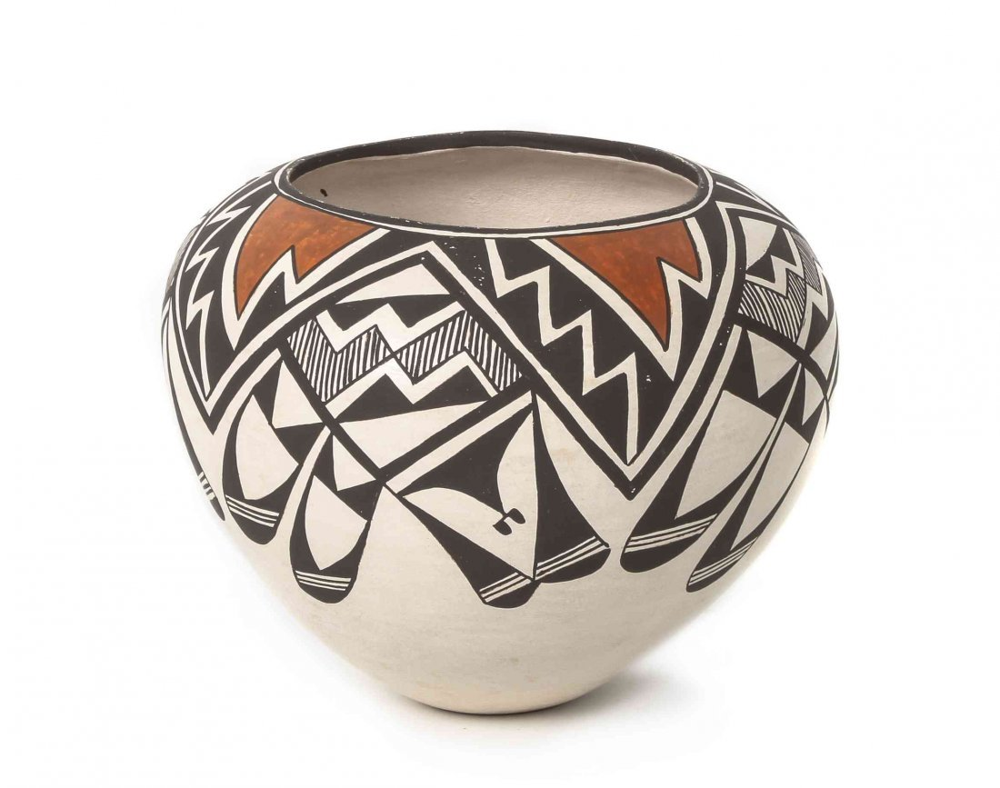 An Acoma Polychrome Olla, Lucy Lewis, Height 6 x