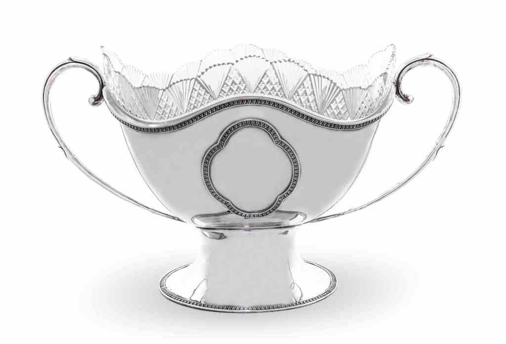 An Continental Silver Two-Handled Punch Bowl, Possibly