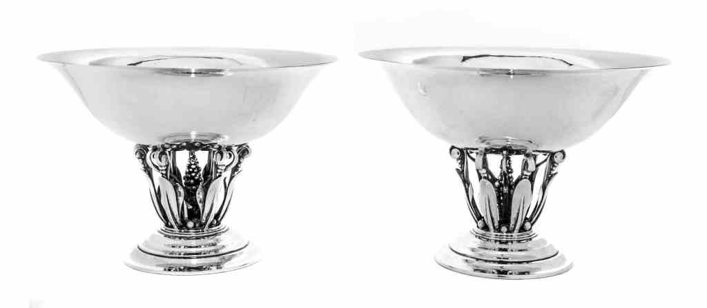 A Pair of Danish Silver Compotes, No. 242, Georg Jensen