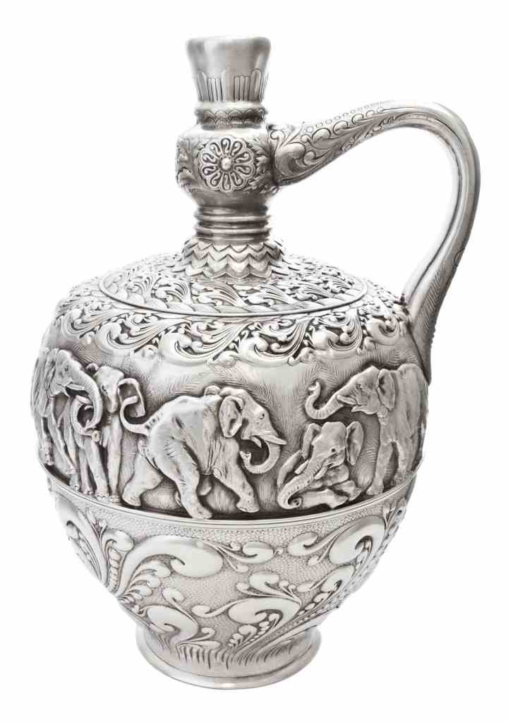 An American Silver Indian Style Ewer, Tiffany & Co.,