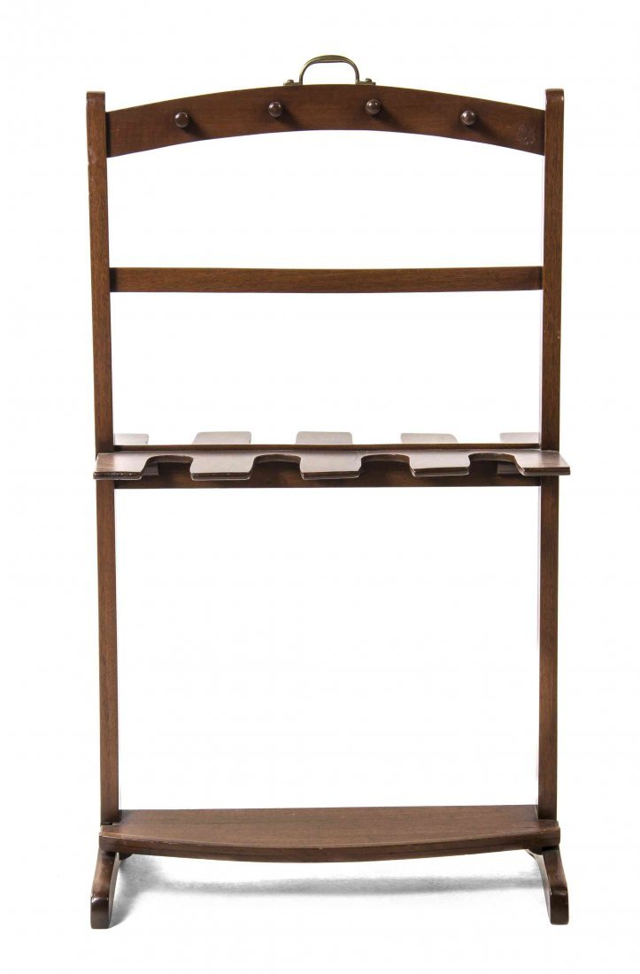 A English Mahogany Boot Rack, Height 39 inches.