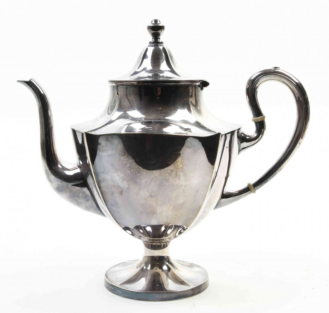 An American Silver-Plate Teapot, Pairpoint Mfg. Co.,