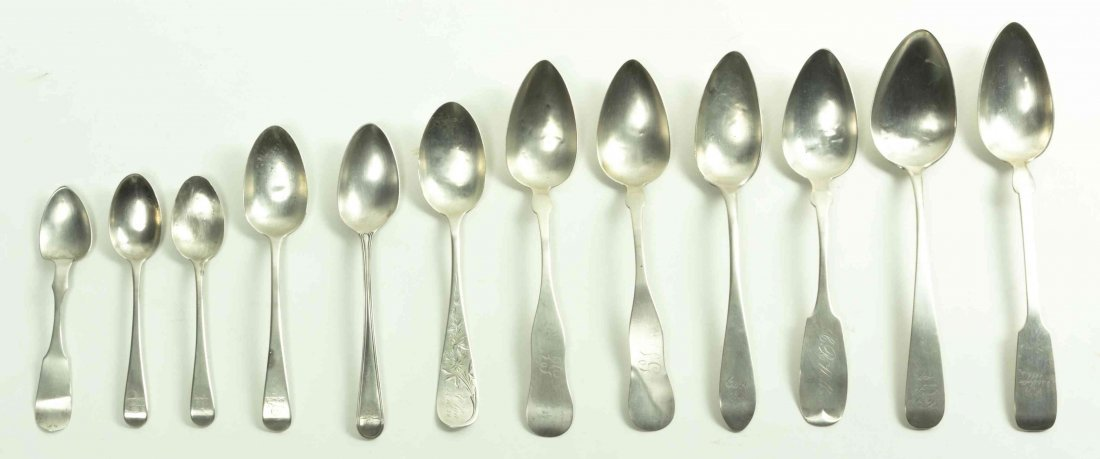 A Collection of Twelve Silver Spoons, Length of longest