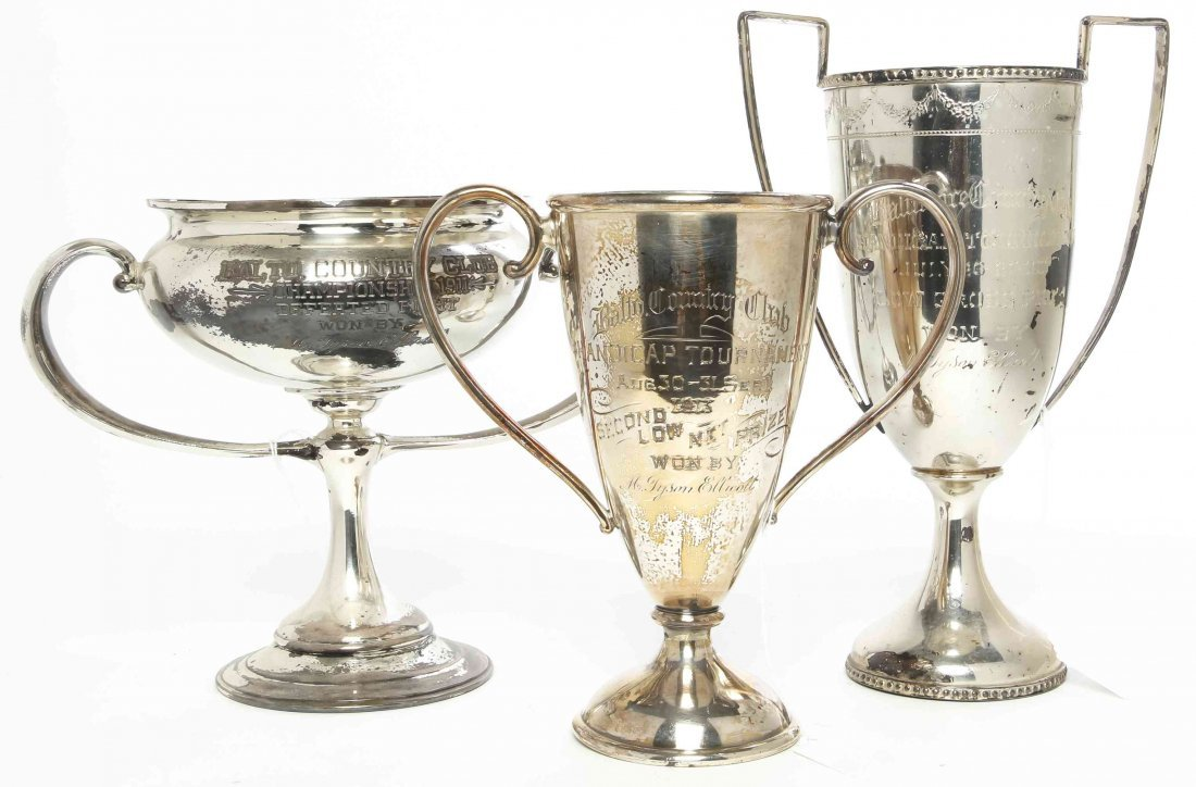 Three American Silver-Plate Trophies, Height of tallest