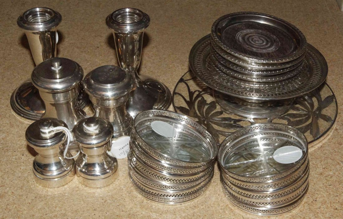A Collection of American Silver Mounted Articles,