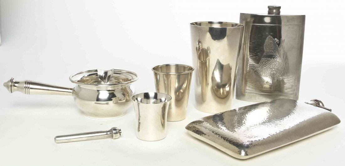 A Collection of American Silver Drinking Accessories,