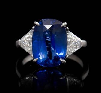 A Platinum, Sapphire and Diamond Ring, Piranesi, 3.60