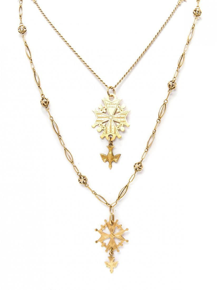 A Collection of Yellow Gold Jewelry, 15.90 dwts.