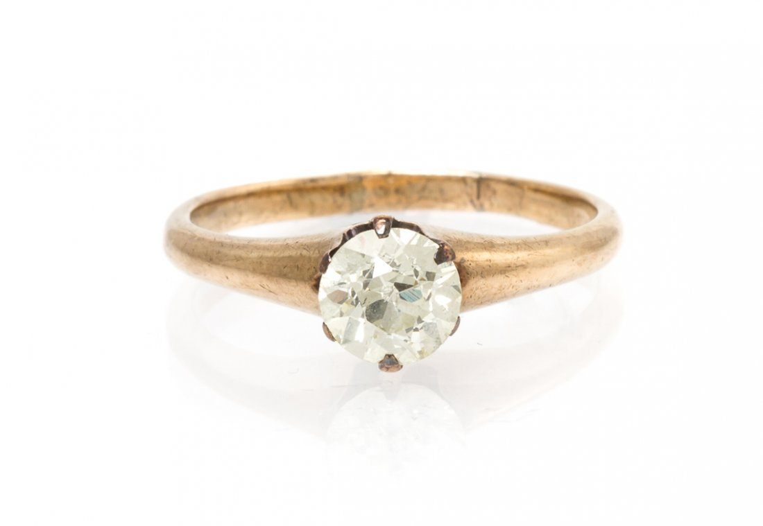 A Yellow Gold and Diamond Ring, 2.00 dwts.