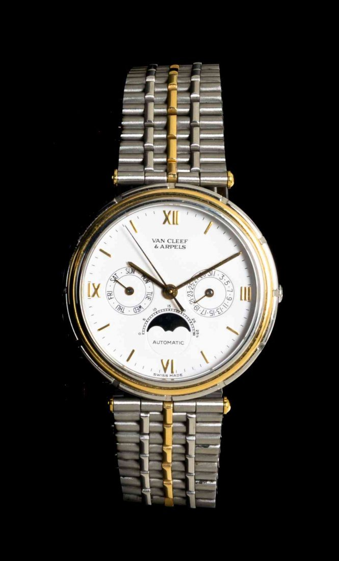 A Stainless Steel and Yellow Gold Ref. 418-003 La