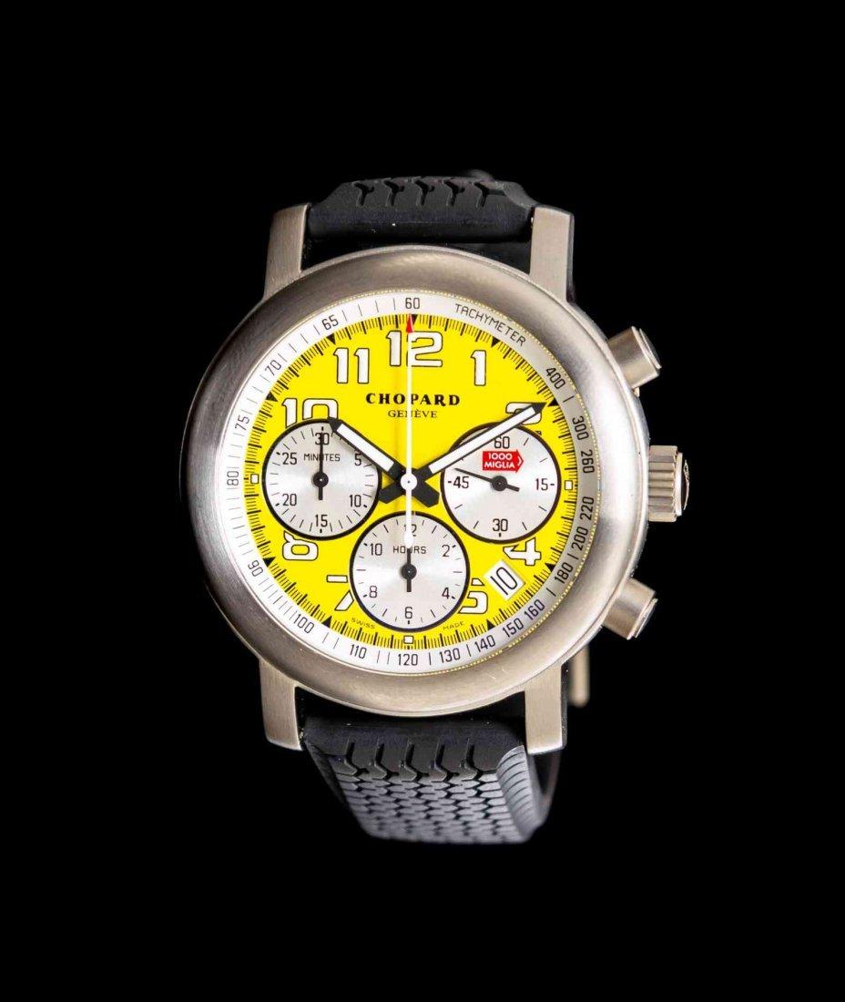 A Titanium Mille Miglia Giallo Chronograph Wristwatch,