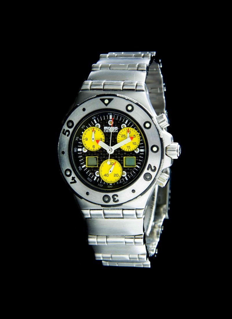 A Stainless Steel Tempest Alarm Chronograph Wristwatch,