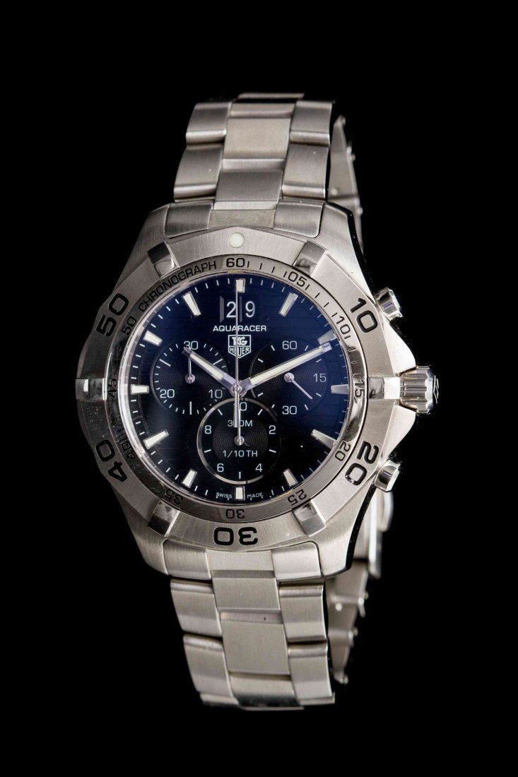 A Stainless Steel Chronograph Aquaracer Wristwatch, Tag