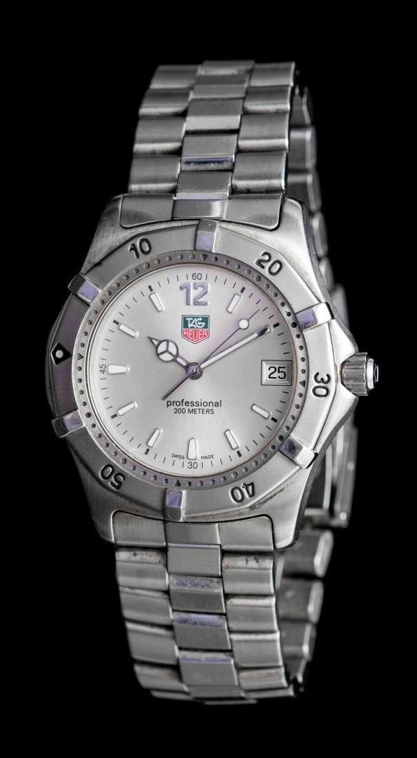 A Stainless Steel Professional Wristwatch, Tag Heuer,