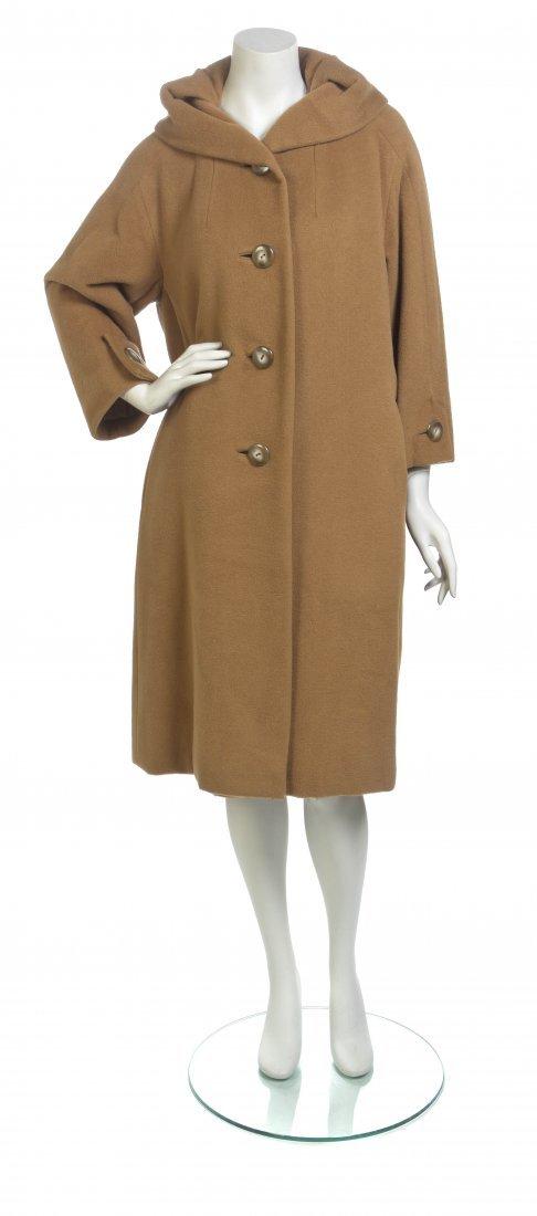 A Christian Dior Tan Vicuna Coat,