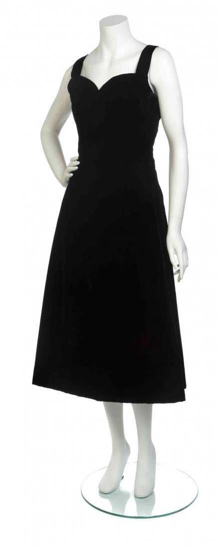 A Christian Dior Couture Black Velvet Cocktail Dress,
