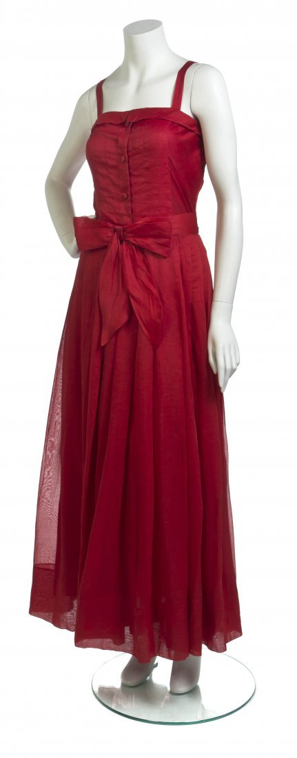 A Nina Ricci Red Cocktail Dress,