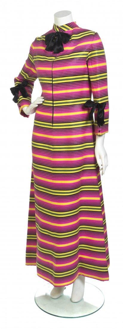 A Geoffrey Beene Pink Stripe Gown,