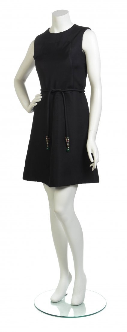 A Christian Dior Couture Black Cocktail Dress,