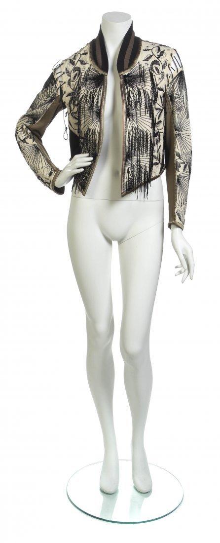 A Jean Paul Gaultier Cream and Black Matador Jacket,