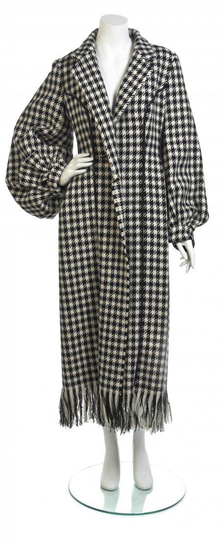 A Yohji Yamamoto Black and White Houndstooth Wool