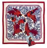 An Hermes Silk Scarf 35 x 35 inches