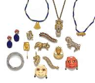 A Group of Kenneth Jay Lane Costume Jewelry