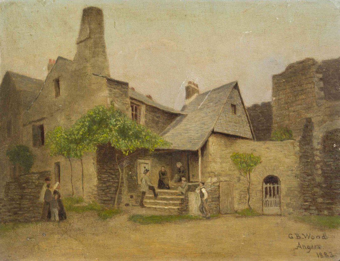 George Bacon Wood, (American, 1832-1910), Village