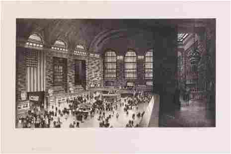 Stow Wengenroth, (American, 1906-978), Grand Central,