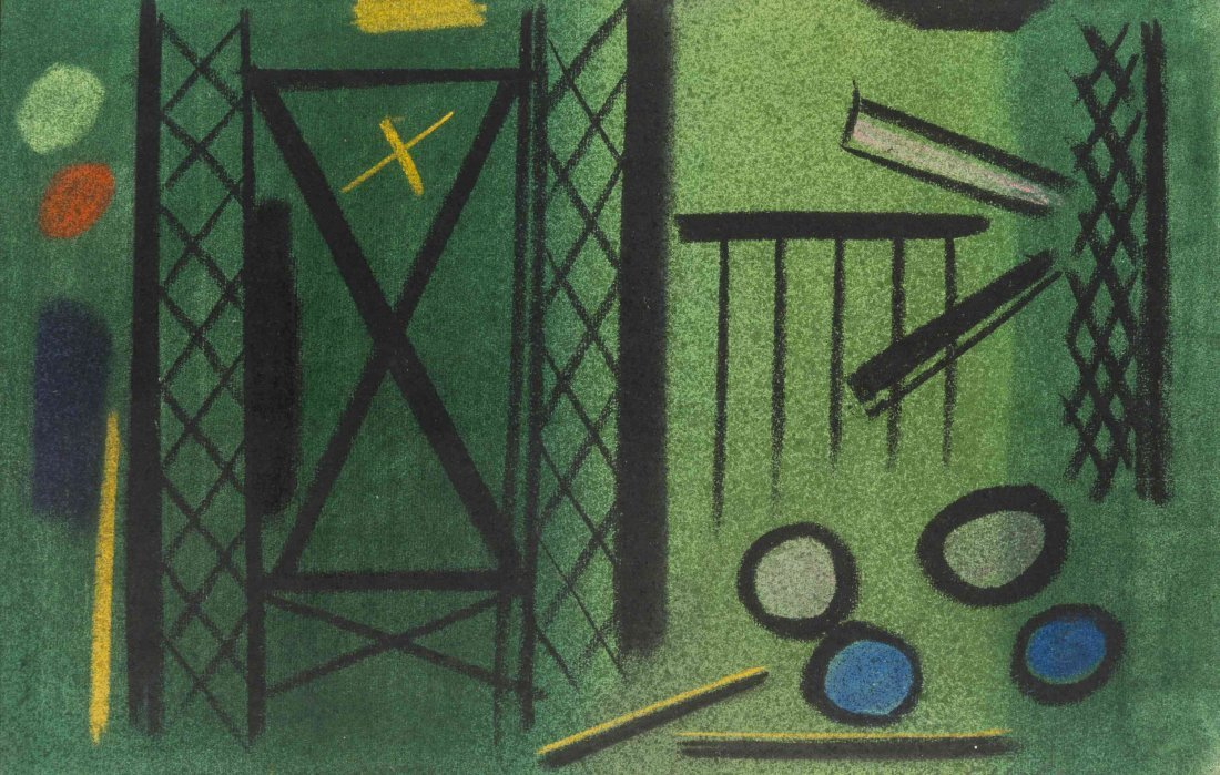Carl Robert Holty, (American, 1900-1973), Signal Lights