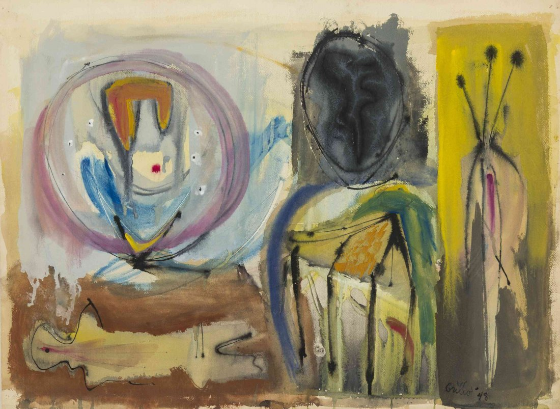 John Grillo, (American, b. 1917), Untitled, 1948