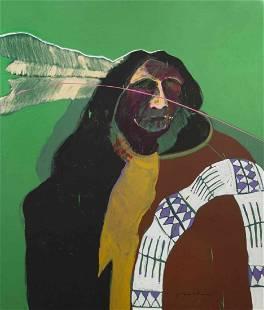 Fritz Scholder, (Native American, 1937-2005), Crow