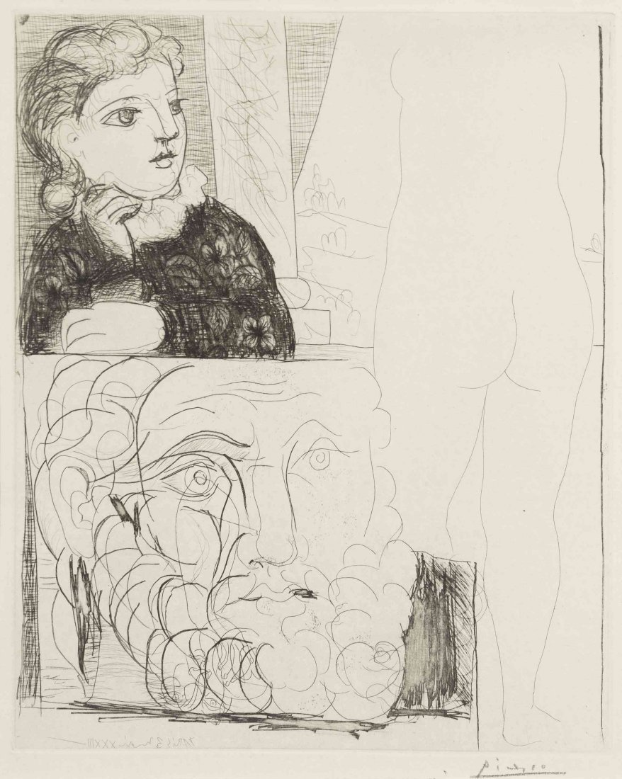 Pablo Picasso, (Spanish, 1881-1973), Femme accoudee,