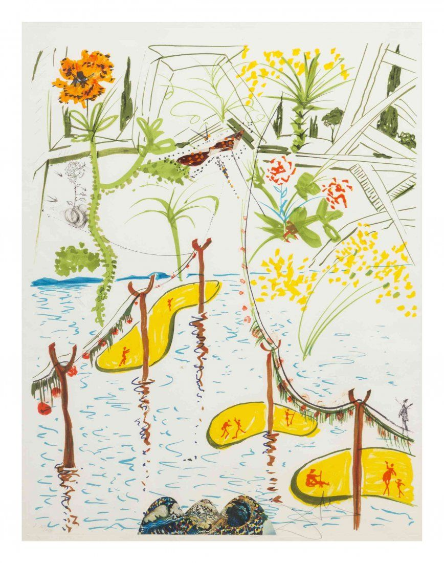 Salvador Dal?, (Spanish, 1904-1989), Biological Garden