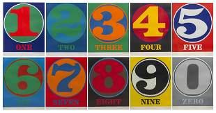 Robert Indiana, (American, b. 1928), Numbers, 1968