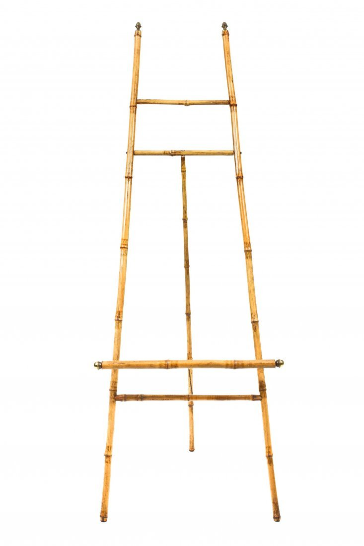 A Victorian Bamboo Artist's Easel, Height 65 inches.