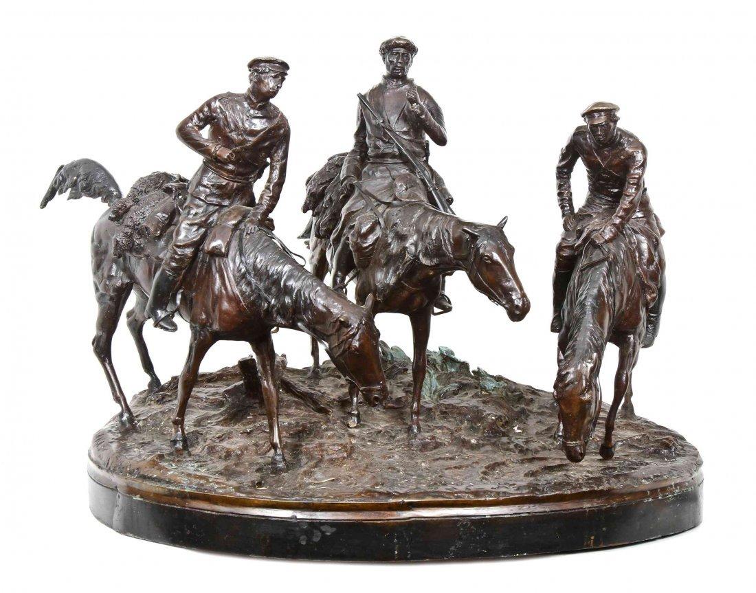A Modern Monumental Decorative Bronze, After Evgeni
