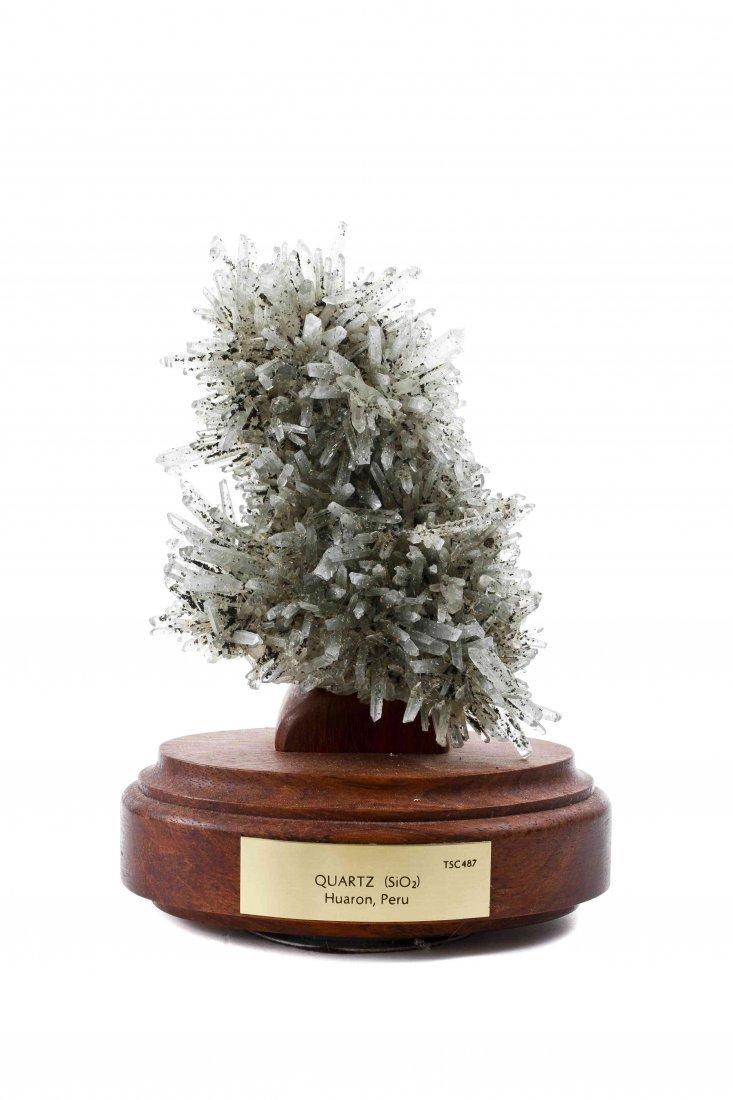 A Quartz Crystal Specimen, Height 8 inches.