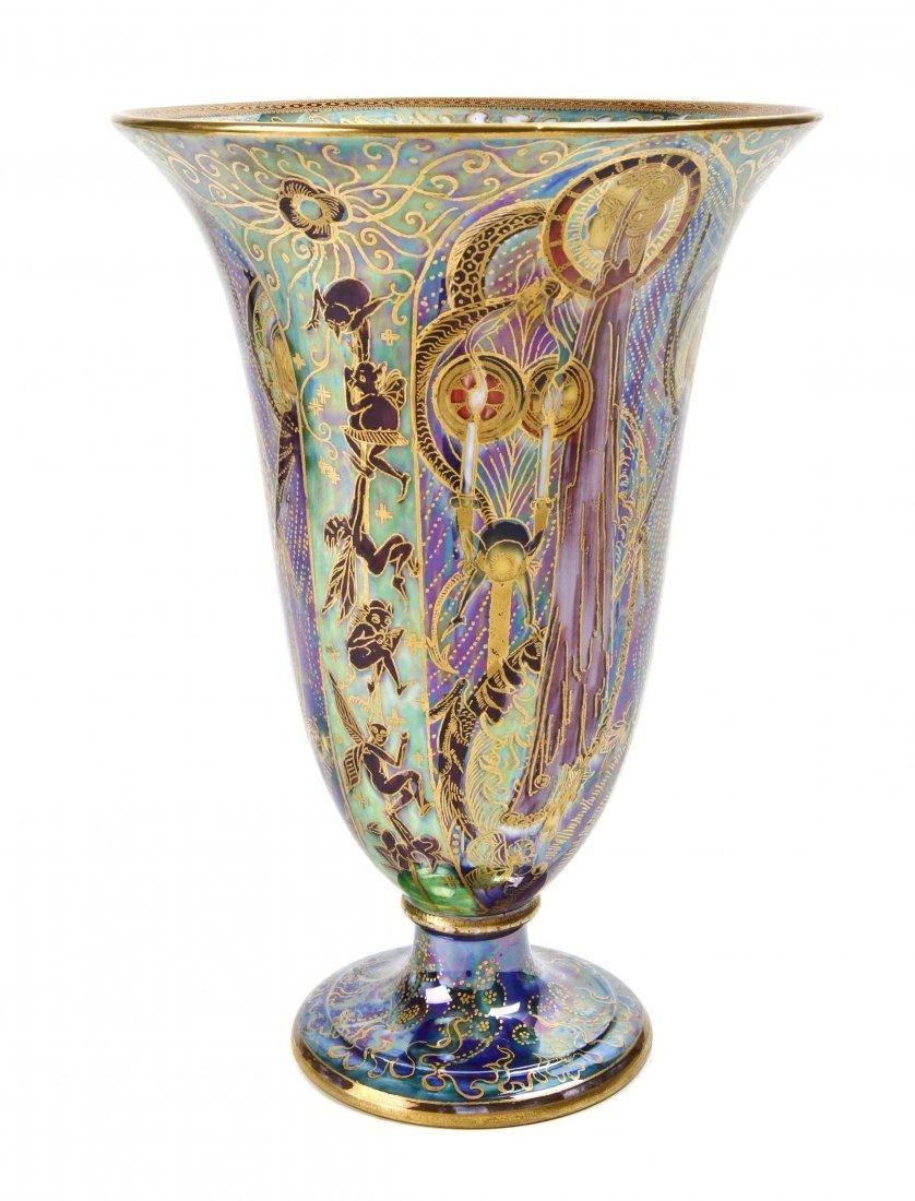 "A Wedgwood Fairyland Lustre Candlemas"" Vase, Height 8"