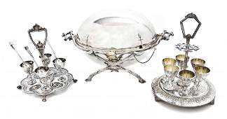 Three Victorian Silver-Plate Table Articles, Height of