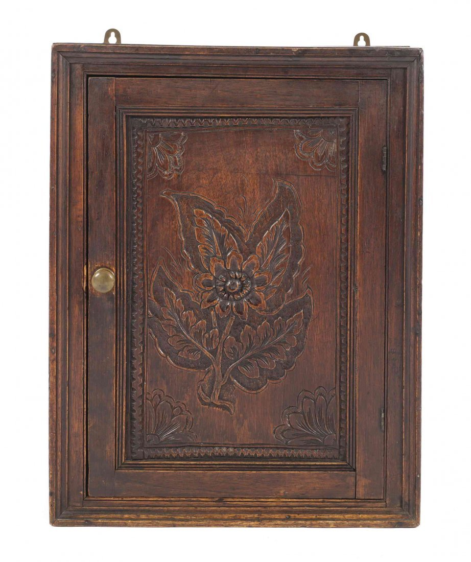 A George I Hanging Cupboard, Height 24 1/2 x width 18