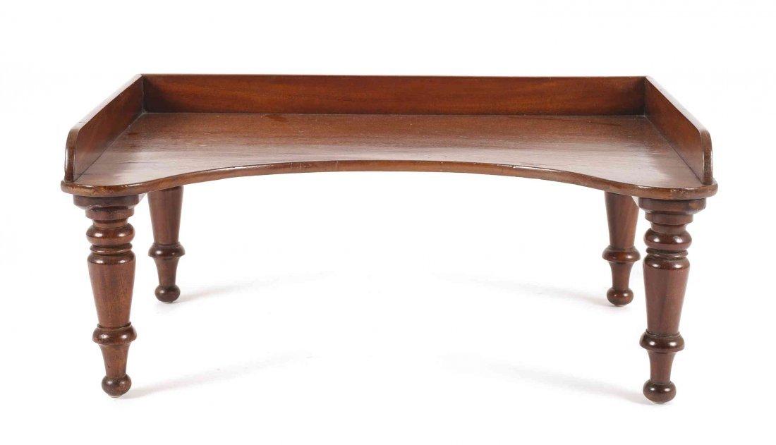 A Georgian Mahogany Breakfast Tray, Height 11 x width