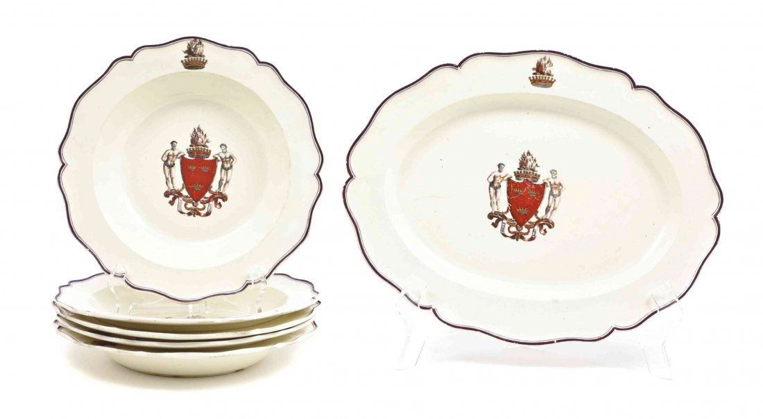 A Group of Scottish Armorial Table Articles, Length of