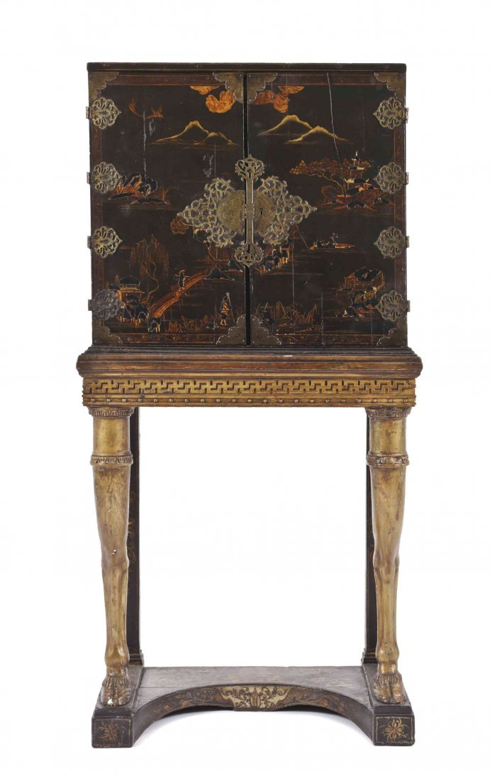 A Chinese Export Cabinet on Stand, Height 63 x width 31