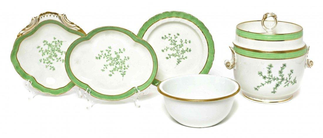A Derby Porcelain Partial Dessert Service, Length of