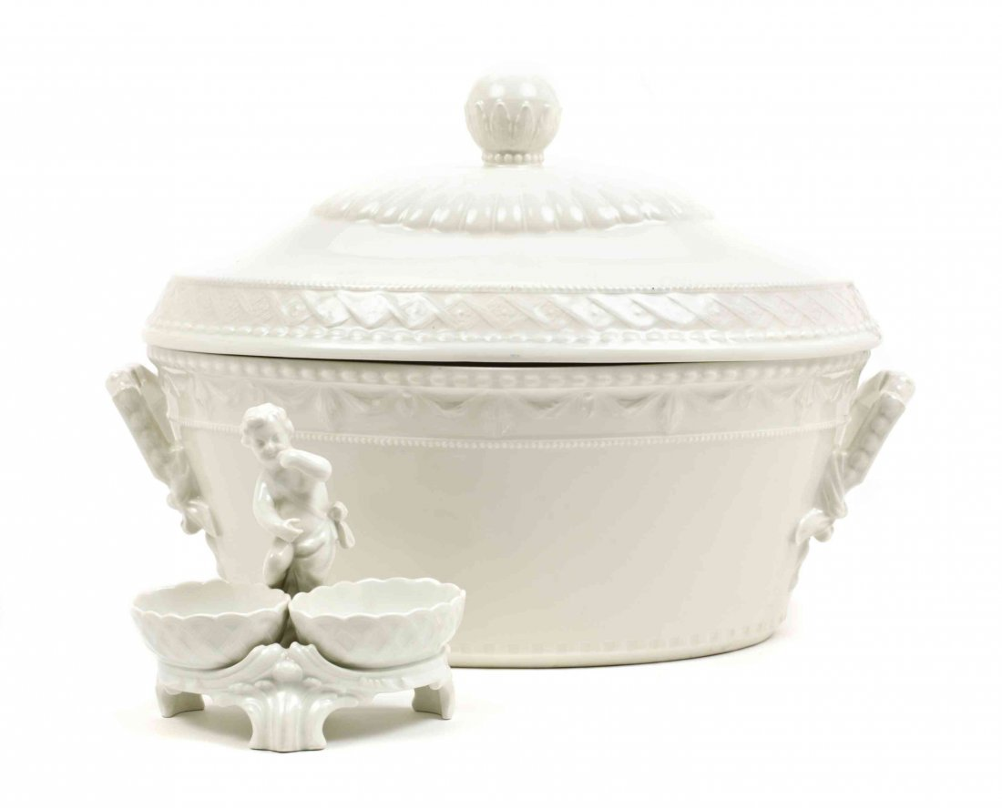 A Berlin (K.P.M.) Porcelain Covered Tureen, Length of