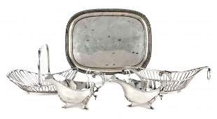 A Group of Five SilverPlate Table Articles 19th