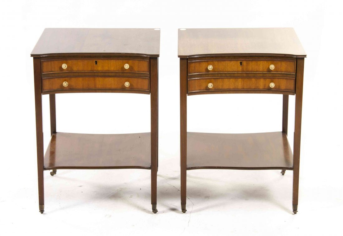 A Pair of Sheraton Style Mahogany Night Stands, Height