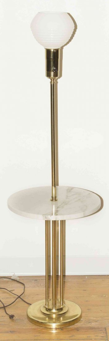 An Italian Brass and Marble Floor Lamp, Height overall
